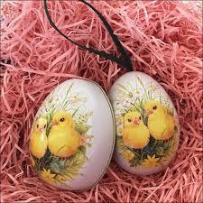 egg ornament metal easter egg tins