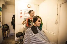 first girl haircut transgender inside one of britain s first queer and trans friendly hair