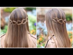 loop waterfall braid cute hairstyles https www youtube com