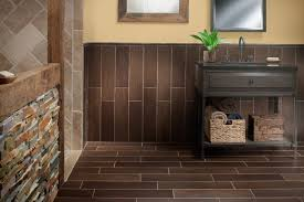 exotica walnut wood porcelain tile contemporary bathroom