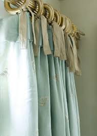 Curtains With Ribbon Ties A Way To Hang Curtains Just Sew On Ribbons And Tie Them To