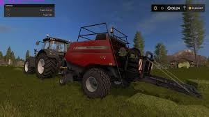 farming simulator 2017 massey ferguson baler mod review youtube