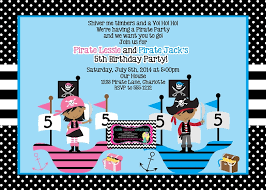 pirate party themed invitations