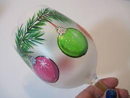 ornaments painted wine glass by kudoskitchenbyrenee