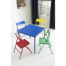 Kids Chairs And Table Cosco Kid U0027s 5 Piece Colored Folding Chair And Table Set Free