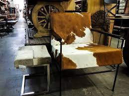 cowhide club chair and ottoman stool natural cowhide chair
