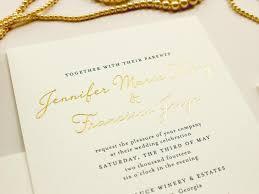Gold Foil Wedding Invitations Gold Foil Wedding Invitation Blind Impress Lace Navy Letterpress