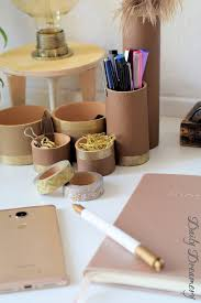 Schreibtisch Simpel Schreibtisch Utensilo Edel Mit Leder Und Gold U2013 Daily Dreamery