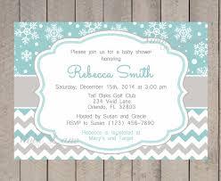 theme winter baby shower invitations