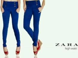 Celana Zara ra shop on celana zara hws wrna electric blue fit