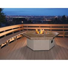 Outdoor Propane Gas Fireplace - 48 inch propane gas fire pit table by cal flame hexagon coffee