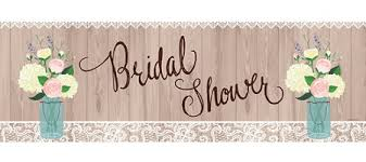 wedding shower rustic bridal shower banner 60in x 20in party city canada