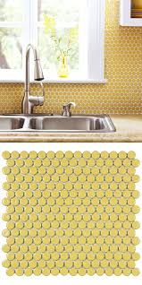 best 25 yellow tile bathrooms ideas on pinterest yellow tile merola tile hudson penny round vintage yellow 12 in x 12 5 8 in x 5 mm porcelain mosaic tile 10 2 sq ft case