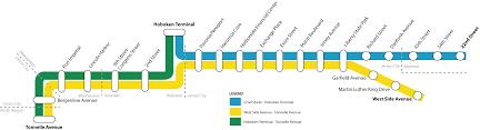 hudson bergen light rail map file hblr map 02112006 png wikimedia commons