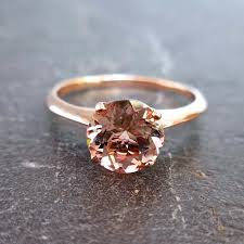 morganite engagement ring gold solitare morganite ring 14kt gold made to order custom