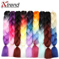 ombre kanekalon braiding hair low cost xtrend 5pcs synthetic kanekalon braiding hair extensions