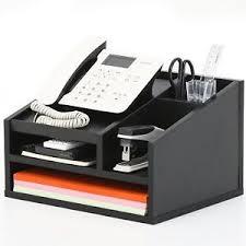 Electronic Desk Organizer Wood Desktop Organizer Ebay