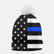 Thin Blue Line Flag Thin Blue Line Flag Beanie Live Heroes