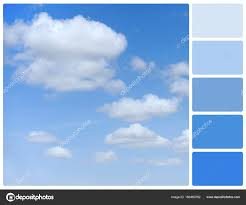 blue swatches blue sky with palette color swatches stock photo volodymyrbur