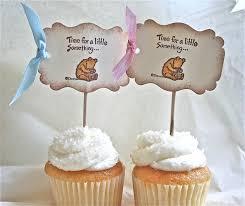 classic winnie the pooh baby themed handmade cupcake food