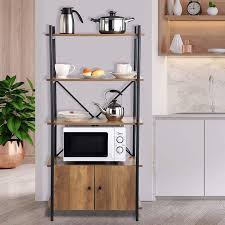 wayfair kitchen storage cabinets clelia 24 8 with cabinet kitchen baker s rack with microwave compatibility