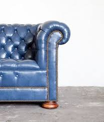Blue Leather Chair Blue Leather Couch Someday The Kids Will Move Away And I U0027ll Have