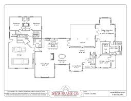44 4 bedroom 2 living room house plans bedroom one story house 4