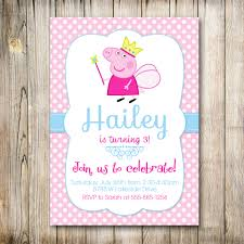 Design Invitation Card For Birthday Party Peppa Pig Birthday Invite Cloveranddot Com