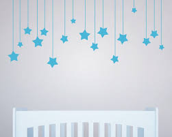 custom wall decals for nursery custom color haning long star wall stickers for kids room white