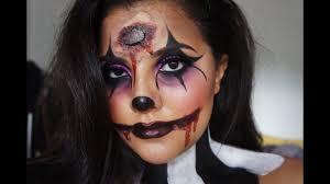 dead clown halloween makeup tutorial dana renee makeup youtube