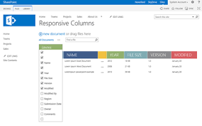 Css Responsive Table by Sharepoint 2013 Responsive Table Columns