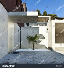 modern house entrance view beautiful modern house entrance outside stock photo 99407072