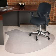 exciting grey polyester fiber mat for office chair wooden corner