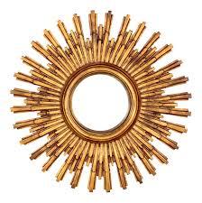 mid century resin frame concave sunburst mirror chairish