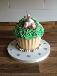 easter bunny themed giant cupcake cupcaking pinterest giant