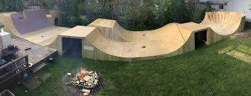 Backyard BMX Ramp Ramped Construction - Backyard skatepark designs