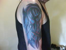 right arm shaded tribal design for guys tattooshunt com