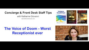 training manual for front desk staff the voice of doom worst receptionist ever youtube