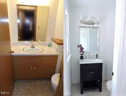 Small Bathroom Makeovers Before And After - half bathroom makeover before u0026 after u2022 the chambray bunny