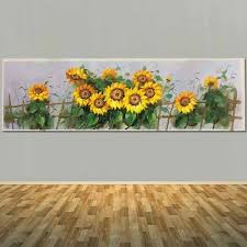 Pure Hand Painted Abstract Sunflower Canvas Oil Painting Sunflower