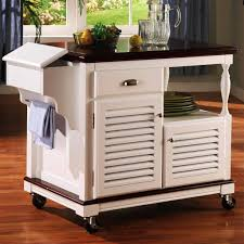 kitchen kitchen cart with trash bin serving carts on wheels