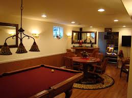interior contemporary interior design with game room basement