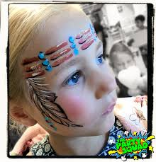 cute indian headband face painting painted by ditzy doodles http