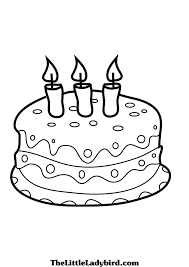 coloring page of a birthday cake coloring pages