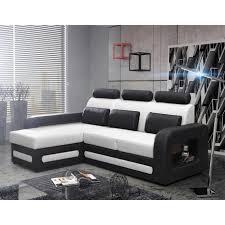 canapé convertible bicolore canapé lit bicolore et convertible blanc et noir avec angle au choix