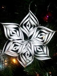 3d kirigami snowflake ornament not origami but still pape flickr