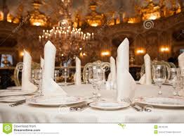 Dinner Table Table Appointments Dinner Restaurant Stock Photos Images