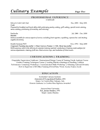 Statistician Resume Sample by Sous Chef Resume Example