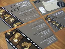 custom film strip invitations for sharon by papermadeinvites