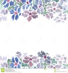 Border Designs For Birthday Cards Cute Watercolor Flower Border With Blue Bachelor Buttons